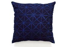 This Listing does not include a pillow insert.  The pillow cover is made from Dye Indigo mudcloth textile from Mali with zipper closure on the side for easy insert.  Back of pillow is linen.  Many size available: - 20x20 cover recommended for 22x22 inserts. - 16x24 cover recommended for 16x24 inserts.  Handcrafted in the artisan's pet and smoke free environment.  Care : Dry cleaning recommended. Thanks for looking!  Our terms here…