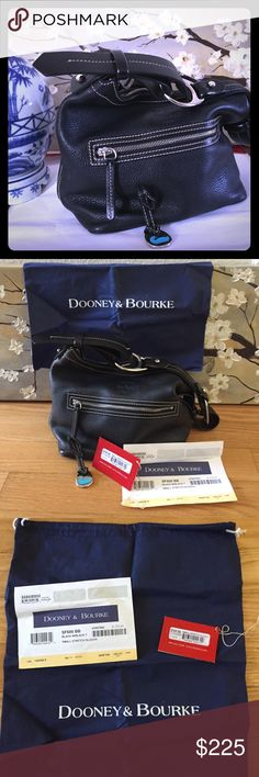💫💥⚡️Flash SALE✨💥💫 DOONEY & Bourke NEW with tags and original blue protector bag. Great deal!!! NEW 275 plus tax=$297. You'll get the bag without paying taxes. Excellent hardware and great quality DOONEY & Bourke always deliver. Jet black, exterior zip up pocket, interior zipper for your phone, and it has a closure zipper to secure your goods😘 FIRM on price Dooney & Bourke Bags