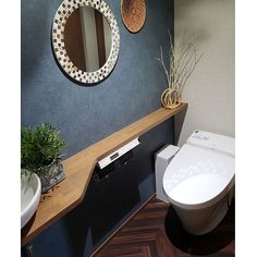 Home Interior Design, Interior Decorating, Small Toilet, Washroom, Small Spaces, House Design, Mirror, Diy, Furniture