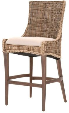 One Kings Lane Set of 2 Greco Counter Stools Sand in