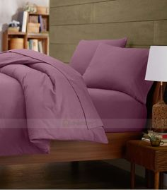 Lavender Single Egyptian Cotton Quilt Duvet Cover + Sheet Choice - 1000TC Double Duvet Covers, Single Duvet Cover, King Duvet, Queen Duvet, Grey Duvet, Egyptian Cotton Bedding, Quilt Cover Sets, Cotton Quilts, Twin