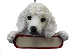 Poodle Ornament 'Santa's Pals' With Personalized Name Plate A Great Gift For Poodle Lovers * See this great product. (This is an affiliate link and I receive a commission for the sales) Cat Memorial, Christmas Ornaments To Make, Dog Names, Polar Bear, Pet Dogs, Pet Supplies, Your Dog, Great Gifts, Lion Sculpture