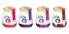 Premium yogurts produced by the dairy company Malý Gazda.   Designed by: Pergamen, Slovakia