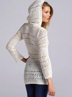 VS Hooded Crochet #sweater