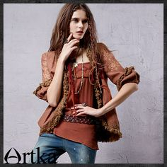 Artka® Women's Series Yesenia Acre 2015 / New Ethnic Tassel Embroidery Jacket Top WA10035Q Retail: GBP £73.75 Promotion Price / GBP £59.00 Visit Our Ebid Store : http://pierrette-new-store2.ebid.net/