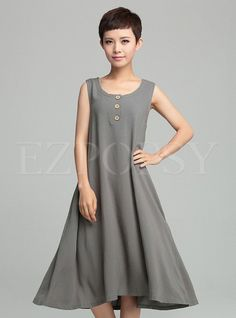 Womens Oversize Retro Fashion Long Dress | Ezpopsy.com