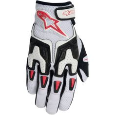 Special Offers - Alpinestars SMX-3 Air Mens Leather/Mesh Street Motorcycle Gloves  White/Black/Red / Small - In stock & Free Shipping. You can save more money! Check It (April 09 2016 at 08:11PM) >> http://bestsportbikejacket.com/alpinestars-smx-3-air-mens-leathermesh-street-motorcycle-gloves-whiteblackred-small/