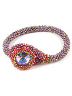 Beading Jewelry - Danielle Ruby Bead Crochet Bracelet Kit - #708889