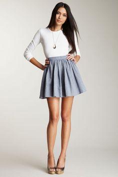 American Apparel Women  Full Woven Skirt