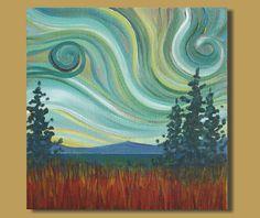 semi-abstract painting semi-abstract art by SageMountainStudio