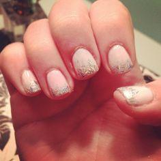 Glitter fade nails #nailpolish Essie OPI