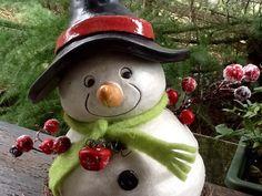 Gartendekoration - Schneemann (frostfest!) - ein Designerstück von HolzToenchen bei DaWanda