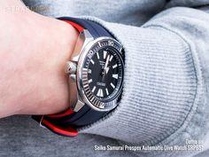 A light feeling on a Seiko Samurai Blue Lagoon - Crafter Blue rubber strap Seiko Samurai, Rubber Watches, Watch Straps, Omega Speedmaster, Seiko Watches, Blue Lagoon, T Strap, Watch Bands, Rolex