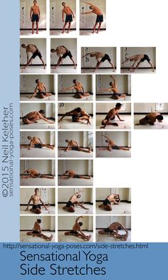 A selection of standing and seated side stretches. Read more at http://www.sensational-yoga-poses.com/side-stretches.html