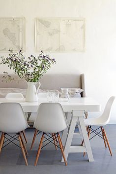 Make your dining table a space you want to lounge in.