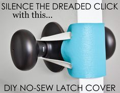 DIY No-Sew Latch Cover - perfect for the nursery or toddler room!