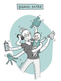 20 caricaturas de lo que nace con la maternidad ¡A reír en serio! - BabyCenter Mommy Humor, Baby Album, Baby Center, Cartoons, Poses, Comics, Fictional Characters, Cardio, Outfit