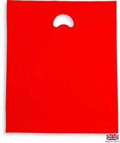 Bright red polythene bags are great for retail and promotional businesses!