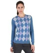 Cashmere Women's Argyle Sweater