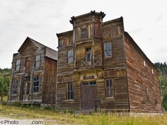 Two original buildings, outstanding examples of American frontier architecture, are preserved and open to the public as Elkhorn State Park (managed by the Montana Department of Fish, Wildlife, and Parks; and recorded in the Historic American Buildings Survey). Gillian Hall (left) was built in the 1880s and served as a store, saloon, and dance hall. Fraternity Hall (right), was built in the 1890s for shows, dances, and lodge meetings. The silver, gold and lead mines at Elkhorn began booming…