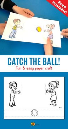 Catch the Ball- Fun & easy paper craft