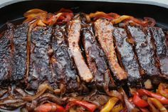 Worlds Best Dutch oven BBQ Ribs with onion and peppers! Use safe ingr. Method is of interest! Best Dutch oven barbequed rib's you'll ever taste. Barbecue ribs in a Dutch oven. Could this ever be as good as smoked ribs? Dutch Oven Ribs, Ribs In Oven, Best Dutch Oven, Dutch Oven Recipes, Rib Recipes, Cooking Recipes, Cooking Ideas, Food Ideas, Grilling