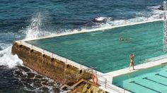 Bondi Baths have been a landmark feature of Bondi Beach in Sydney for over 100 years.