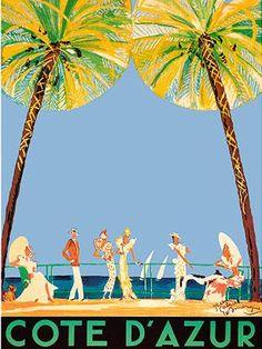 Cote D'azure | Vintage Travel Poster