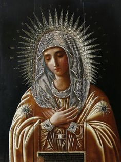 Beautiful icon of Our Lady.: