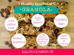 Granola benefits infographic, a healthy and delicious food