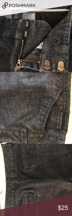 """Gap Denim Trouser Pant Sz 6R stretch Dark Blue Stretch w/ button flap back pockets and small detail pocket on front and back.  Flare cut Size 6 inseam 32"""" ankle 11"""" Rise 9"""". Barely worn.    A very cute pant to pull off dress casual. GAP Pants Boot Cut & Flare"""