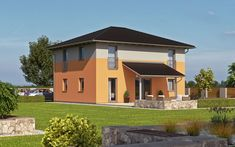 Ein Toskana Haus wie das hier präsentierte Fertighaus Haas O 155 B bietet Ihnen viele Vorteile: Style At Home, Mansions, House Styles, Home Decor, Ground Floor, Mediterranean Homes, Roof Styles, House Numbers, Room Layouts
