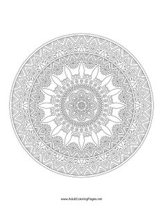 This ornate mandala gives the impression of a ship's helm in this printable adult coloring page.