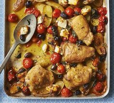 Greek-style roast chicken