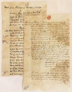 Territory Florida Deed 50,000 Acres Anthony Dey Thomas Penn Richard Hackley 1823
