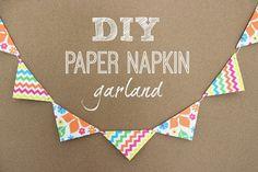 Mendez Manor : DIY Paper Napkin Garland