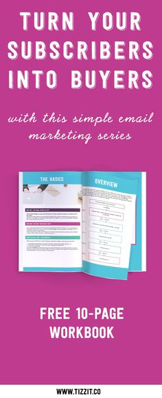 Email marketing matters more than ever if you want to have a successful online shop and a profitable business. Discover how to use it to grow your biz with this free 10-page workbook that will guide you through creating your very own email series and help turn your subscribers into buyers. Click to download or Pin to get it later!