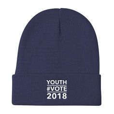 Share your enthusiasm for young voters in the 2018 mid-term elections with our comfortable, warm knit beanie. Each beanie is embroidered with the Youth Vote 2018 message and is the perfect hat to wear while registering young voters, joining a march to express your opinions or