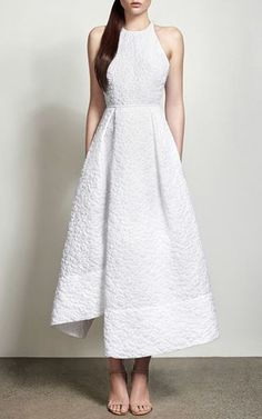 Lindsay Cotton Floral Midi Dress by Alex Perry for Preorder on Moda Operandi
