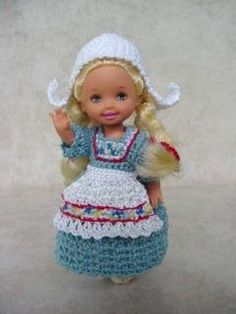 Dolls of the World Clothes Patterns for Kelly Doll - Crochet Crafts by Helga