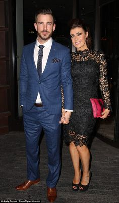 Fighting back: Dan Hooper took to Twitter on Tuesday to insist that he and Kym Marsh have not ended their engagement but admitted they are having troubles