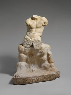 Marble statue of Herakles seated on a rock, Roman, 1st or 2nd century A.D.