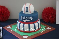 Baseball themed cake first birthday