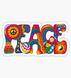 Millions of cool stickers designed by independent artists. Decorate laptops, water bottles or car windows with awesome art on cool stickers. Paz Hippie, Estilo Hippie, Hippie Peace, Hippie Vibes, Boho Hippie, Hippie Style, Stickers Cool, Happy Stickers, Laptop Stickers