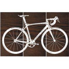 Road Bike Street Bike Wall Art Bicycle Screen Print Wood Painting Wall Art on…