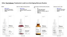 """The Ordinary: Anti Aging Regimen Guide Explore our internet site for additional details on """"Anti Aging Skin Treatment"""". It is a great area to get more information. The Ordinary Anti Aging, The Ordinary Skincare Guide, The Ordinary Products, The Ordinary Regimen, The Ordinary For Eyes, The Ordinary Eye Cream, The Ordinary Before And After, The Ordinary Guide, Anti Aging Facial"""