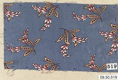 Piece Date: 19th century Culture: German Medium: Cotton Dimensions: No dimensions recorded. Classification: Textiles-Printed Credit Line: Rogers Fund, 1909 Accession Number: 09.50.519