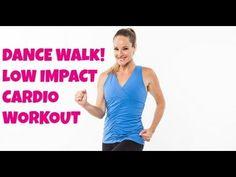 ▶ Walking, Exercise: Dance Walk (walking workout, low impact, fat-burning cardio) - YouTube