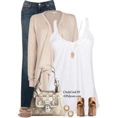 """""""Jeans and A Cardigan"""" by cindycook10 on Polyvore"""