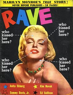 M M THROUGH MAGAZINE COVERS 25 : A circa-1953 cover shot (probably by Powolny) leads into this 28-page extravaganza of entitled ''Marilyn's True Story, Complete!'' It's pretty thorough, offering up everything from
